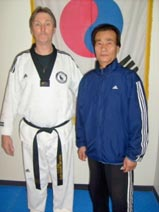 Master Gary White with Grand Master Lee
